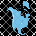 North America States Location Icon