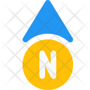 North Direction Arrow Icon
