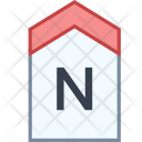 North Direction Tag Icon