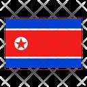 North Korea Flag Country Icon