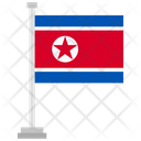 North Korea Country National Icon