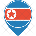 Korea North Flag Icon