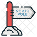 North Pole North Pole Board North Pole Way Icon
