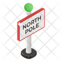 North Pole Guidepost Signpost Icon