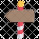 North Pole Sign Icon