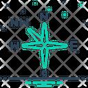 Northwest Compass Direction Icon