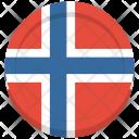 Norway Flag Circle Icon