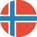 Norway Flag Country Icon