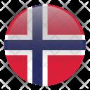 Norway Romania Country Icon