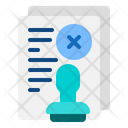 Not Agree Document Icon