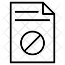 Not Allowed File Prohibition Forbidden Icon
