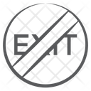 Not Exit Icon