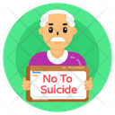 Not To Suicide Banner Placard Not To Suicide Board Icon