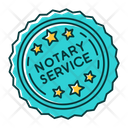Notary Services Stamp Mark Icon