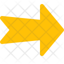 Notched Right Arrow Icon
