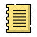 Note Paper Data Icon