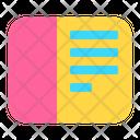 Icon Note Abstract Primitive Icon