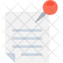 Note Paper Push Icon