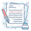Writing Documents Editing Docs Note Papers Icon