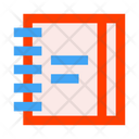 Office Stationery Notebook Daily Planner Icon