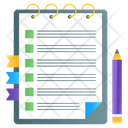 Notebook Drafting Pad Jotter Icon