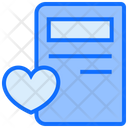 Notebook Heart Writing Icon