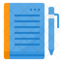 Notebook Book Writing Icon