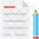 Notepad Pencil Writing Icon