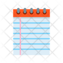 Writing Copybook Exercise Icon