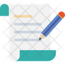 Notepad Pencil Script Writing Icon
