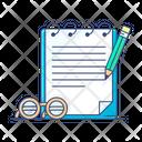 Notepad Workbook Homework Icon