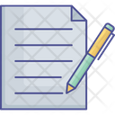 Notepad Contract Sign Business Icon
