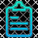 Notes Memo Clipboard Icon