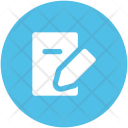 Notepad Pencil Notebook Icon