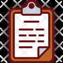 Clipboard Report Document Icon