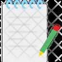 Notes Pencil Text Icon