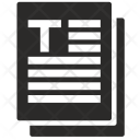 Text Pages Literature Icon