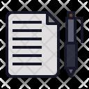 Note File Pen Icon