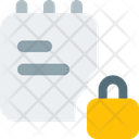 Notes Lock Secure Note Notes Book Icon