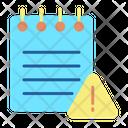 Warn Notes Warning Notes Icon