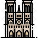 Notre Dame De Paris Landmark Monument Icon