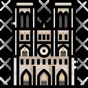 Notre Dame De Paris Landmark Monument Icon