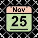 November Calendar Date Icon