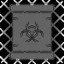 Nuclear Radioactive Toxic Icon