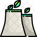 Nuclear Nuclear Eco Power Plant Icon