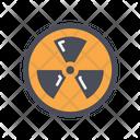 Nuclear Radiation Radioactive Icon