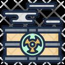Barrel Nuclear Plant Acid Rain Icon