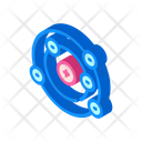 Nuclear Core Isometric Icon