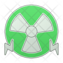 Nuclear Energy Green Icon