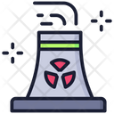 Nuclear Factory Air Pollution Chimney Pollution Icon